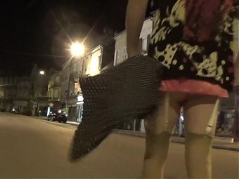 crossdresser sounding urethral trannyin lingerie in the city