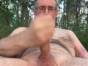 Cum in the forest