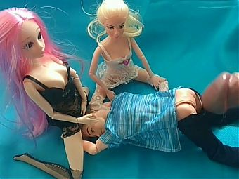 Barbie doll and her friends. Appetizing ass.