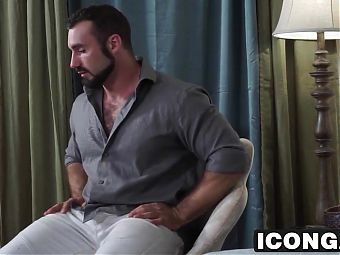 College professor Hans Berlin fucks tight student Roman Todd