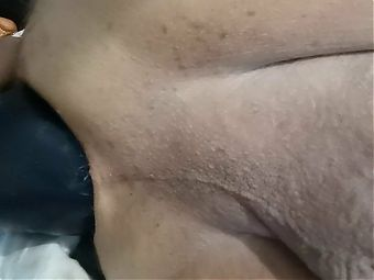 Playing with my fist hand dildo in anal